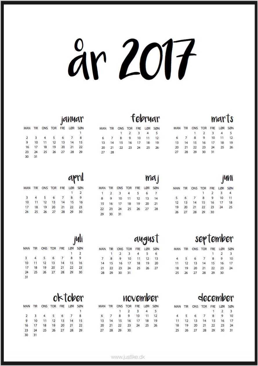 print selv kalender gratis
